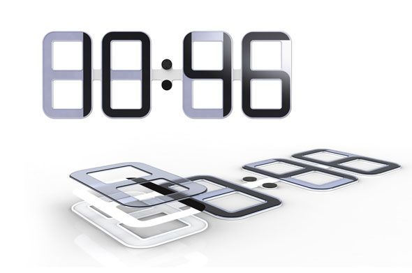 E Ink: Concept Showcase: Wall Clock by Lenart Studios