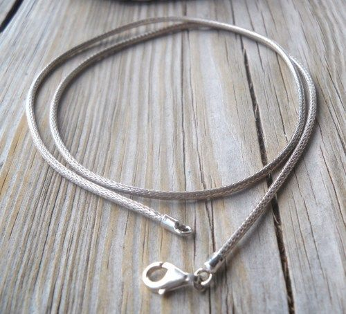 925 Sterling Silver Snake Shape Neckchain 50 cm long | pavlos - Jewelry on ArtFire
