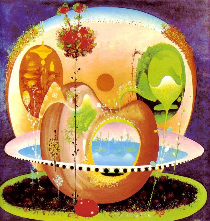 VANGEL NAUMOVSKI. Sunset Garden. 1968.