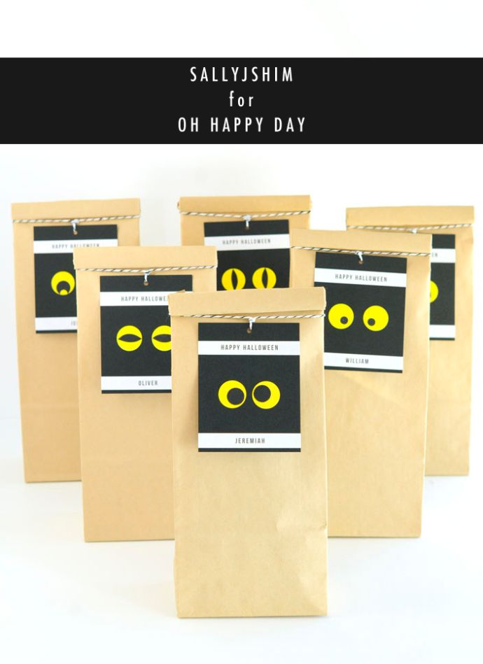 spooky eyes gift tag diy for oh happy day