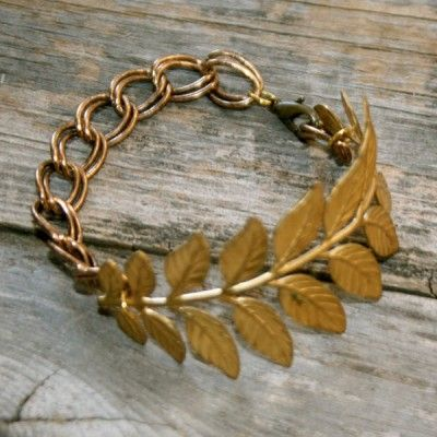 gold leaf bracelet, on my wish list