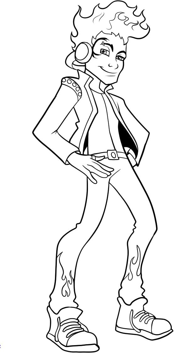 Monster High Rocker Coloring Pages Monster High Cartoon