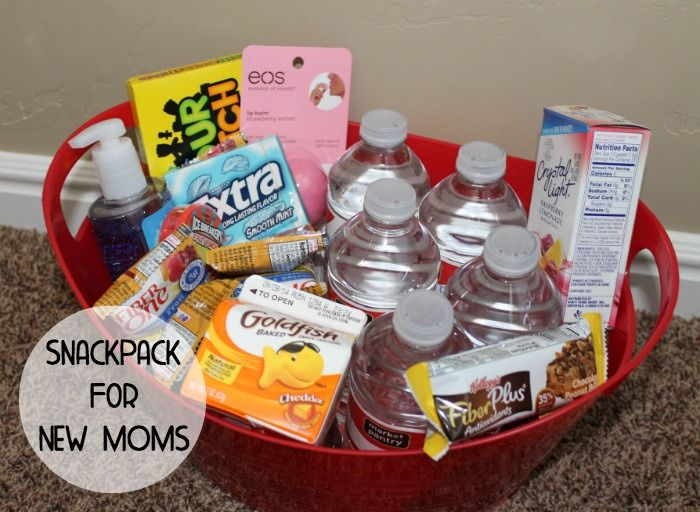 DIY Baby Shower Gift: New Mother Snack Pack