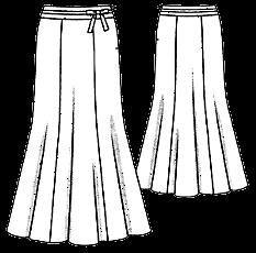 Восточный костюм юбка годе шить