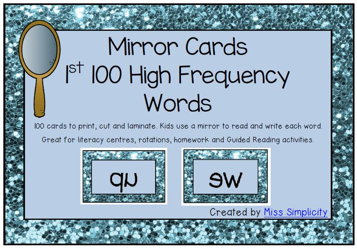 Sight words with mirrors!