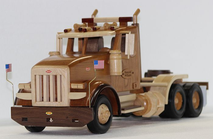 17 best images about wooden toy trucks on pinterest for Wood floor for 379 peterbilt