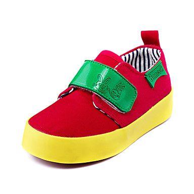 zapatos para niños confortan planos zapatillas de deporte de moda talón con zapatos de cintas mágicas más colores disponibles - USD $ 7.99
