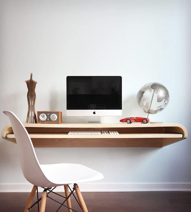 Floating Wall Desk - Rift Oak by Botanist