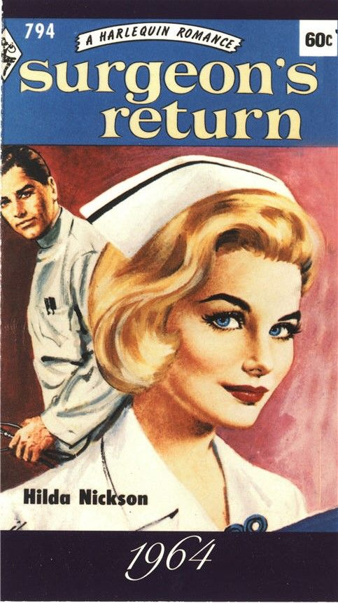 A postcard reproduction of the cover of the Harlequin romance Surgeon's Return, which features a nurse, 1999. Pictures of Nursing: The Zwerdling Postcard Collection. National Library of Medicine