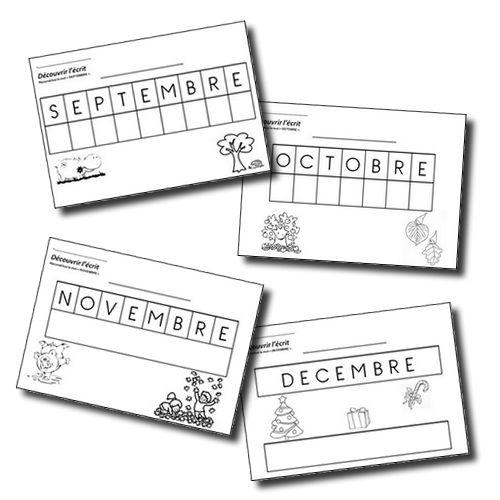 Découvrir l'écrit - Les mois de l'année (sept. à déc.) MS - Cahiers et livres