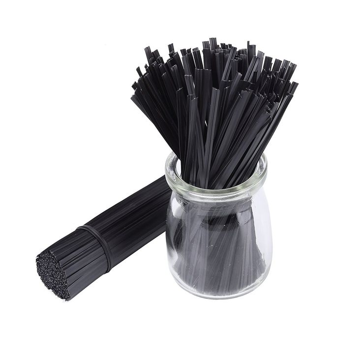 "500pcs 5"" Plastic Black Twist Ties. Bulk of 500pcs twist ties, a perfect solution to get everything organized, like bread ties, reclosing food bags and tie up cords. Many uses for any occasion, like using at home, office, travel, gardening, holiday presents or even on the go!. Nice plastic coating and strong wire inside, strong but flexible, easy to bent and do not fall apart with use. Comes in 500pcs green twist ties, each of them is 5"" in length. Get these twist ties ready for…"