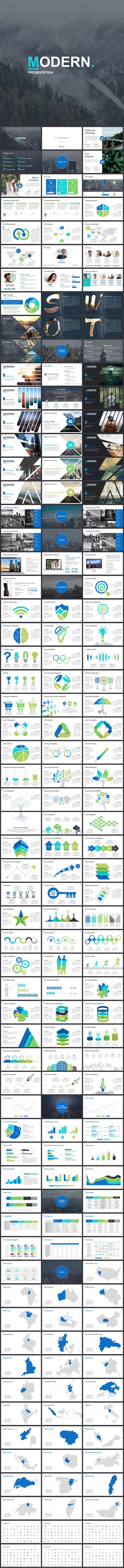 Modern #Powerpoint Template - #Business PowerPoint #Templates Download here: https://graphicriver.net/item/modern-powerpoint-template/19268244?ref=alena994
