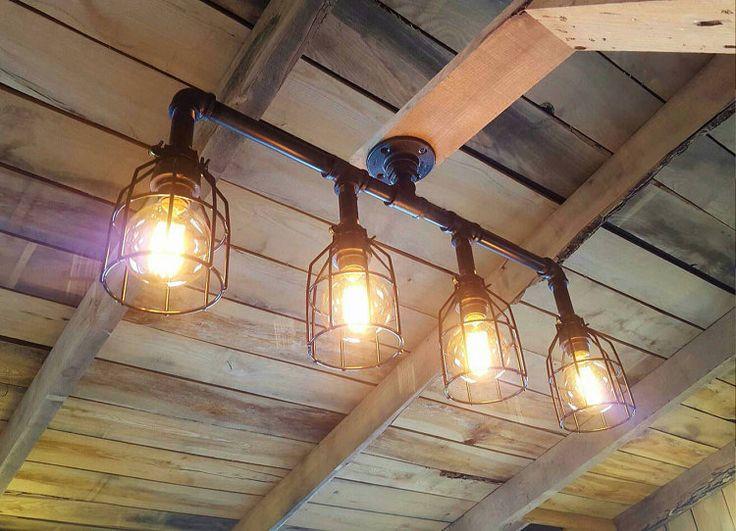 Rustic Industrial Lighting Chandelier Edison by FarmsteadIronworks