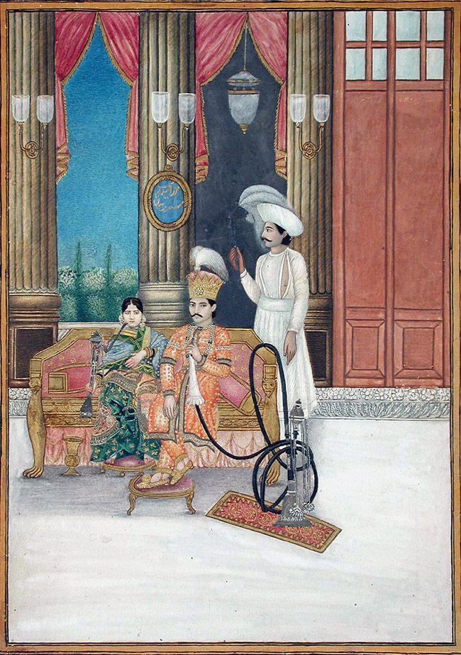 Mirza Bidar Bakht Safdar Khan with a lady 1865