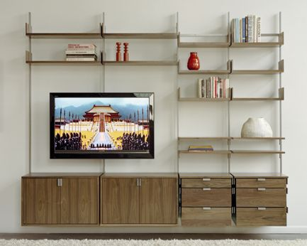 Bon The Wall Mounted As4 Modular Furniture System Designed As A Media Unit, Living  Room Storage