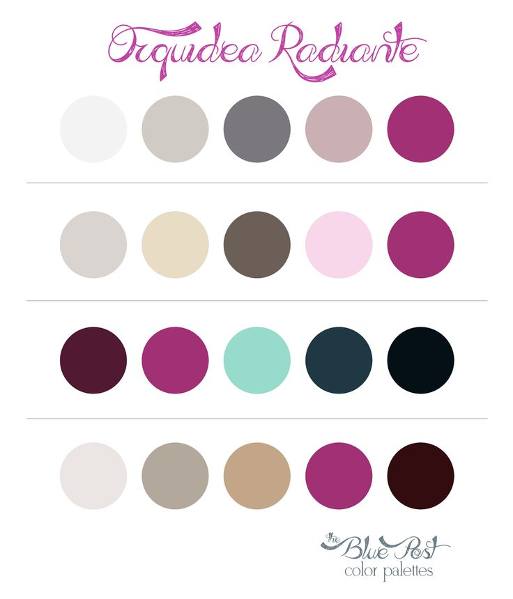 Color Palettes Radiant Orchid - Color of the year 2014 - (Orquídea Radiante - a cor Pantone para 2014)