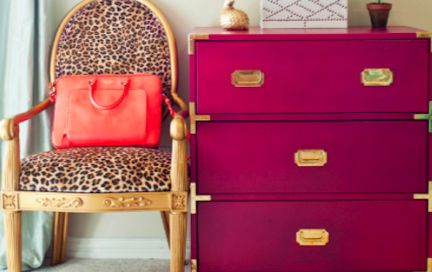 Glitter Guide: Go Wild With Animal Print: Colors Hmmm, Bright Dahlias, Leopard Chair, Animal Prints, Leopards Prints, Prints Chairs, Bold Colors, Design, Leopards Chairs