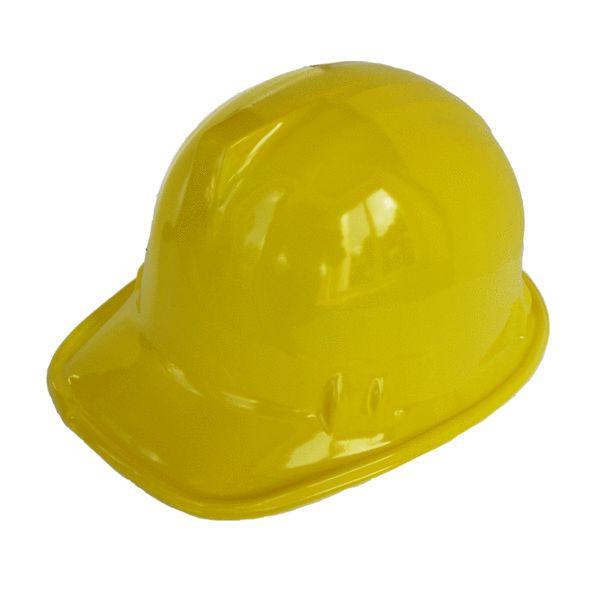 Bauerbeiter Helm aus Kunststoff, idealer Partyhut für den Baustellen Kindergeburtstag.