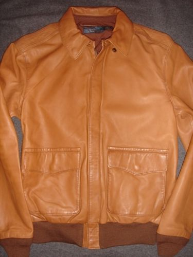 Polo-Ralph-Lauren-THE-LEATHER-BOMBER-Mens-Lambskin-Jacket-Coat-M