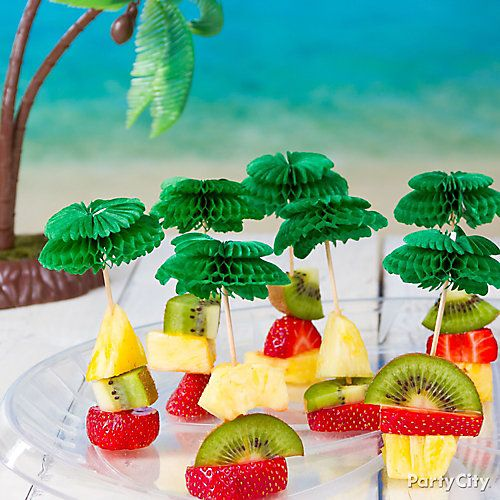 Luau Party Snacks Ideas for kids parties, yummy and healthy