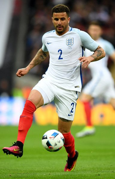 Kyle Walker of England in action during the international friendly match between England and Portugal at Wembley Stadium on June 2, 2016 in London, England.
