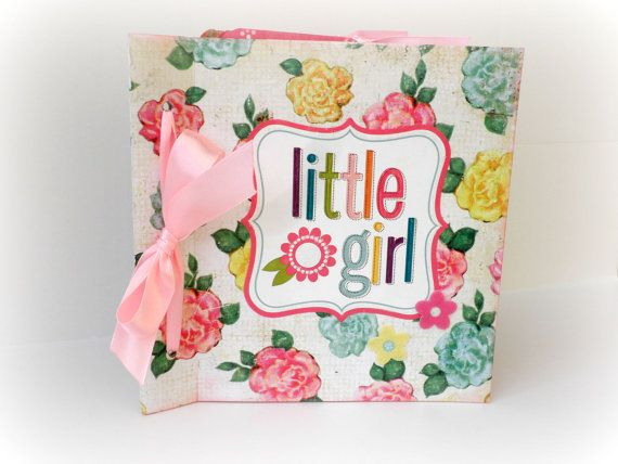 Girl mini album Scrapbooking albumNewborn girl by sweetpaperlife