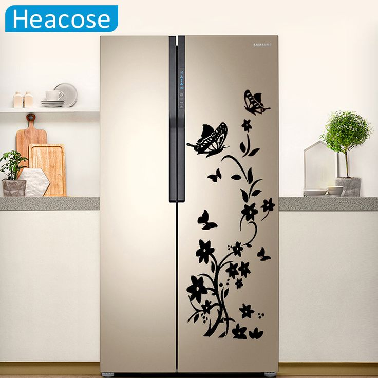 <Jan offer, click image to buy> DIY Creative butterfly refrigerator wall sticker flower art wall stickers home decor for kids room living room wallpaper ~ Details on this piece can be viewed on  AliExpress.com. Just click the image