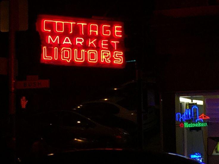 Cottage Market Liquors, 798 Bush Street, taken on Neon Tour of Chinatown with Randall Homan and Al Barna, 2017
