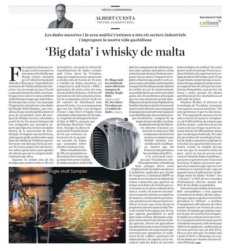 'Big data' i whisky de malta.  #teradata #tduniv #bigdata @diariara #andromines