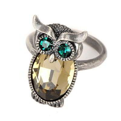 Military Antique Owl Gemstone Design Alloy Fashion Rings Antique. Fashionable with passion REPIN if you like it.😊 Only 64.5 IDR