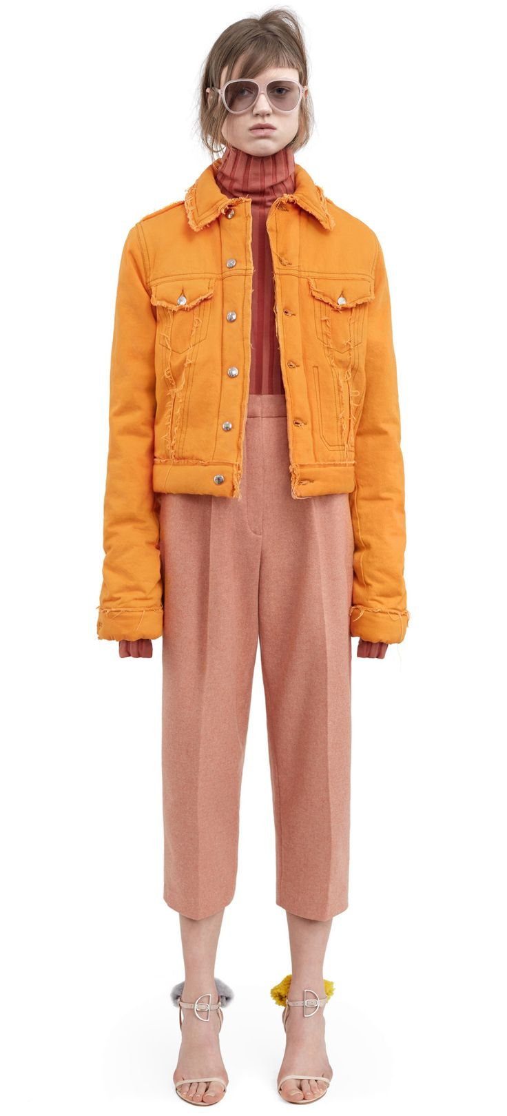 High waisted trousers rose melange $410