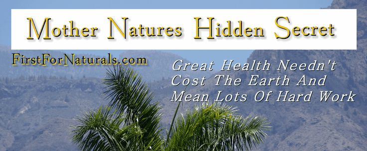 Great health needn't cost the earth or mean lots of hard work. www.firstfornaturals.com