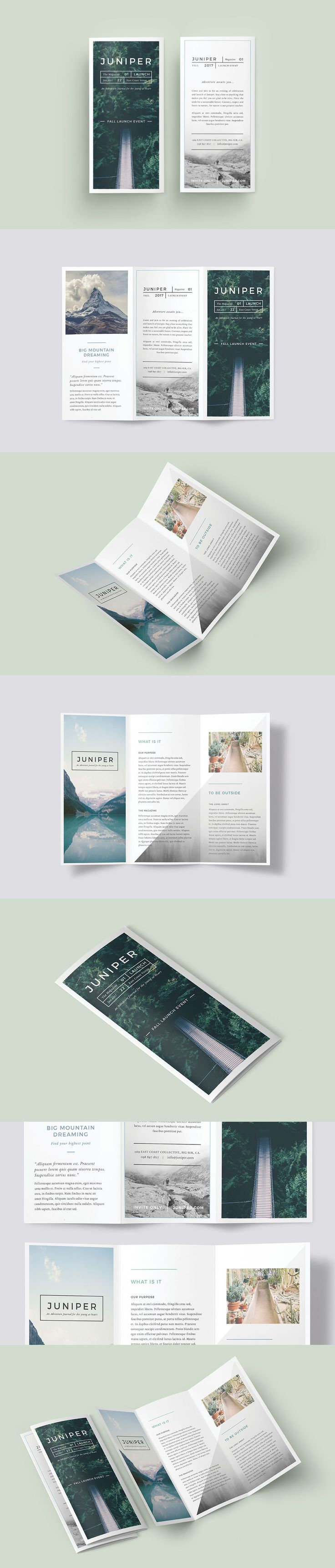 A Beautiful Multipurpose Tri-Fold DL Brochure Template InDesign INDD                                                                                                                                                                                 もっと見る