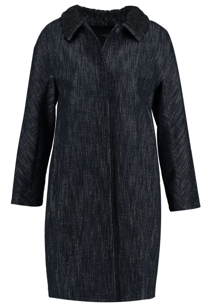 WEEKEND MaxMara NEBBIA Wollmantel / klassischer Mantel blue marine Premium bei Zalando.de | Material Oberstoff: 89% Baumwolle, 11% Polyamid | Premium jetzt versandkostenfrei bei Zalando.de bestellen!