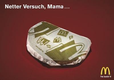 Sehr lustig Idee - also Mamis sammelt die Burger Papiere und schon schmeckt das Pausenbrot viiiel besser :)