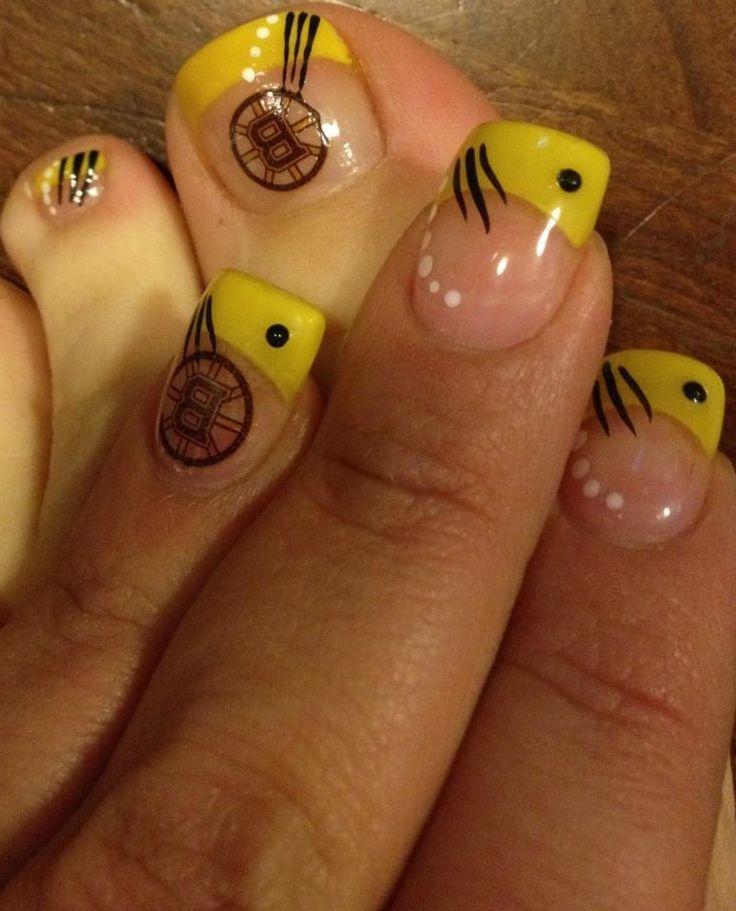 Boston Bruins nails!!! I ❤ Bruins hockey...❤❤❤