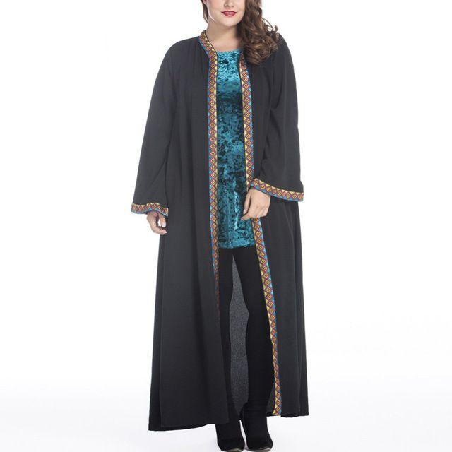 Mulheres Vestido dos muçulmanos Abaya Arábia Oriente médio Longo Plus Size 5XL