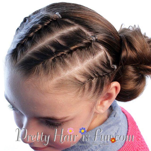 Pretty Hair is Fun: French Rope Twist Braids and Side Bun
