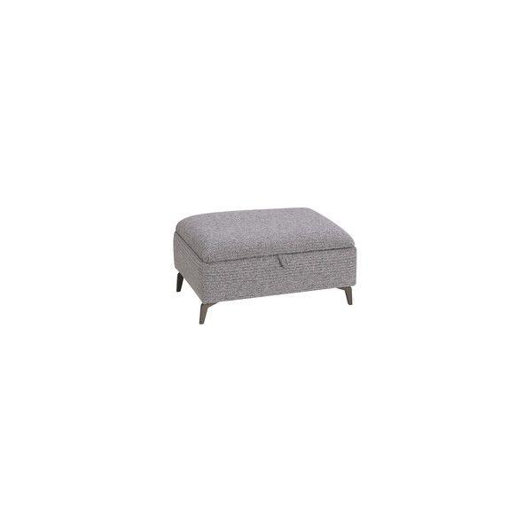 Grey Fabric Sofas Storage Footstool Cube Range Oak Furnitureland Storage Footstool Fabric Sofa Oak Furniture Land