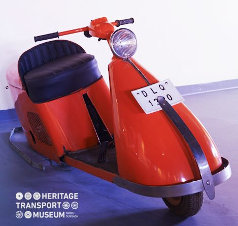 This Salsbury Scooter of 1946 is a legendary piece of timeless beauty technologically advanced to set the standards for the coming time!  #HTM #SalsburyScooter #VintageTransport