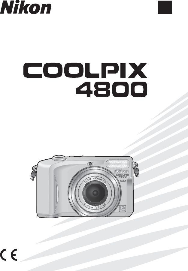 Handleiding Nikon Coolpix 4800 (pagina 1 van 125) (9,17 mb Nederlands)