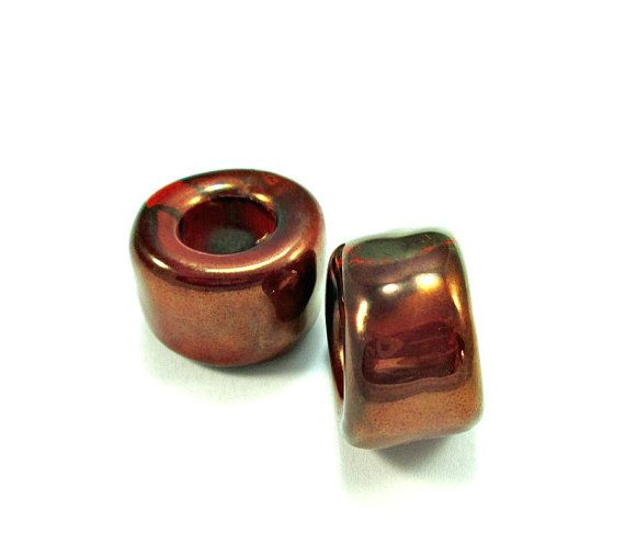 X-large super shiny tube ceramic beads.  #oandn #greekceramicbeads #beads #mykonosbeads #tubebeads #jewelrysupplies