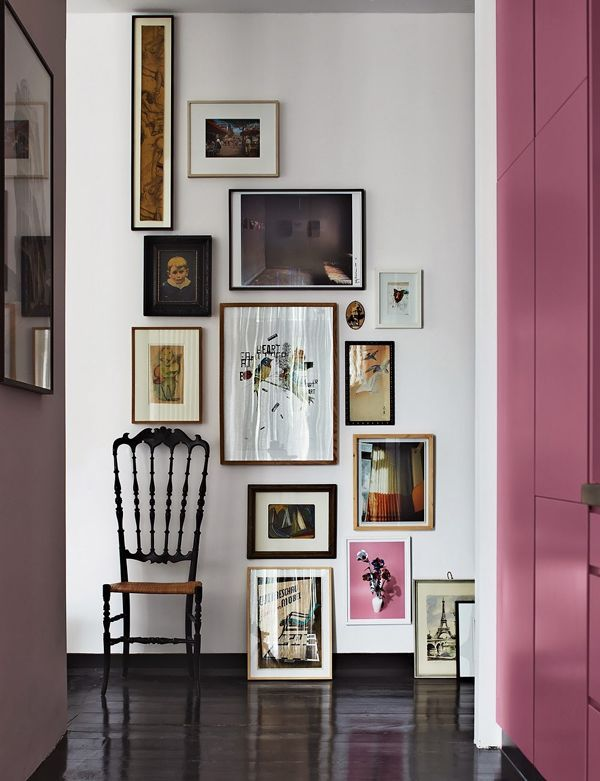 cascading gallery wall