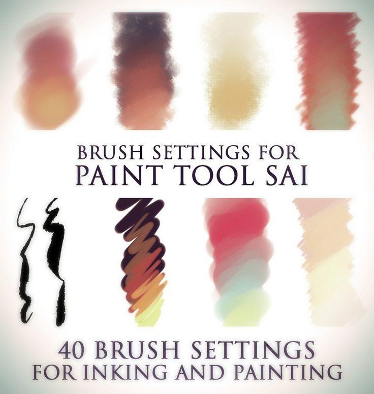 http://elephantwendigo.deviantart.com/art/Brush-settings-for-Paint-tool-SAI-511385825