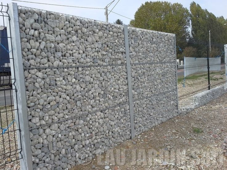 cloture gabion gate and fencing pinterest. Black Bedroom Furniture Sets. Home Design Ideas
