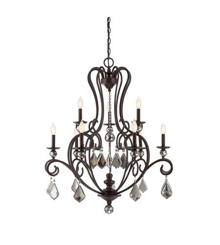 Savoy House 1-2081-9-48 Stratton 9 Light 34 inch Statuary Bronze Chandelier Ceiling Light #LightingNewYork