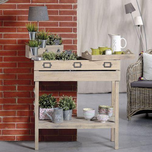 Table potagère en manguier indoor Chaumont Jardin d'Ulysse sur Decoclico