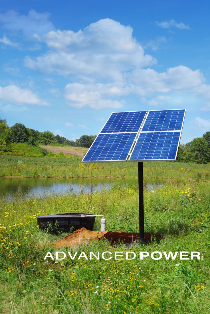 Advanced power inc 39 s k1000h system pumping to a pond in for Solar water pump pond
