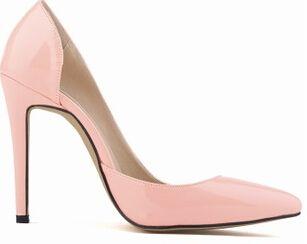 {D & H} Nova Primavera/Outono Slip On Bombas Para As Mulheres, 11 cm Couro Envernizado Medial Abertura da senhora Sapatos de Salto Alto em Bombas das mulheres de Sapatos no AliExpress.com | Alibaba Group