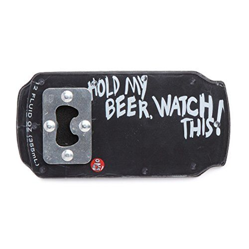 "One Ball Jay ""Hold My Beer"" Bottle Opener Snowboard Stomp Pad One Ball Jay http://www.amazon.com/dp/B0163OPQ46/ref=cm_sw_r_pi_dp_Tt0uwb0H69HNY"